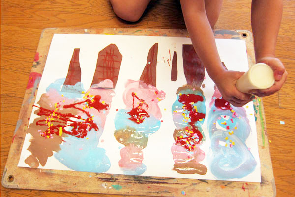 おいしいアイスがたべたいな(3歳児)