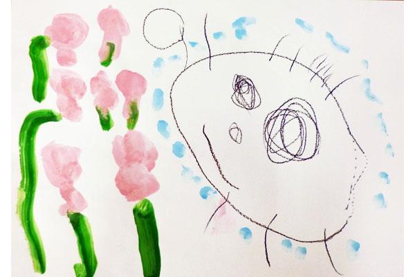 お花の水やり(3歳児)