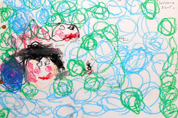 行事画「運動会」(2歳児)