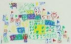 絵画 「ブロックでなにつくる?」(5歳児)