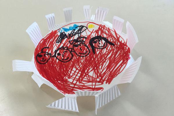 つくってあそぼう紙皿UFO!(5歳児)