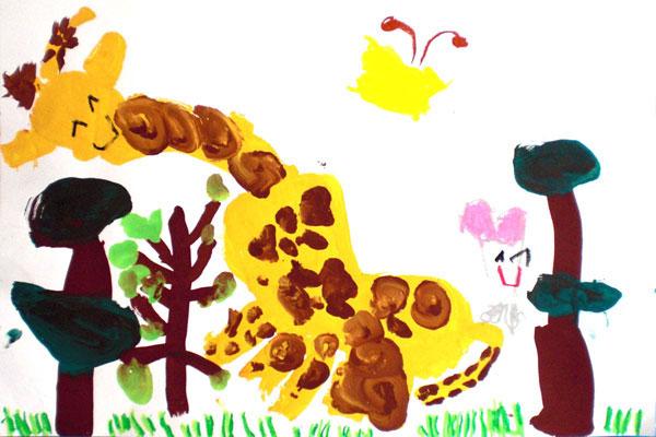 キリンをかこう!(5歳児)