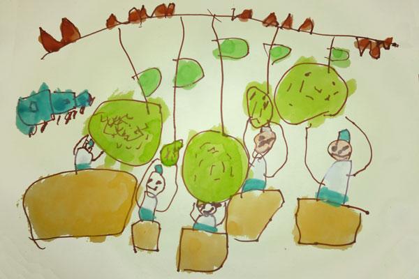 梨狩りに行ったよ(4歳児)