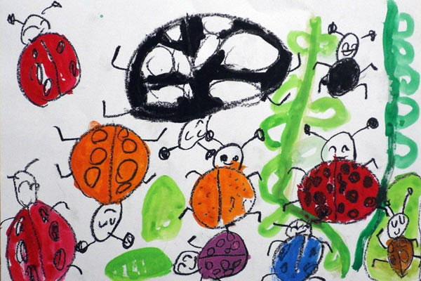 てんとう虫の絵(4,5歳児)