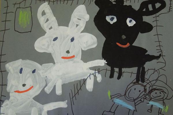 動物園のヤギさん(4歳児)