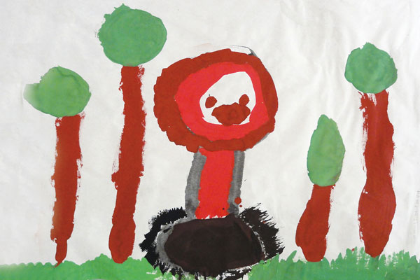 動物の違いがわかったら、描けたよ!(5歳児)