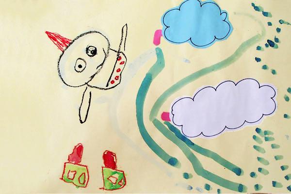 雷さまが、雲から雨を降らせたよ(3,4,5歳児)