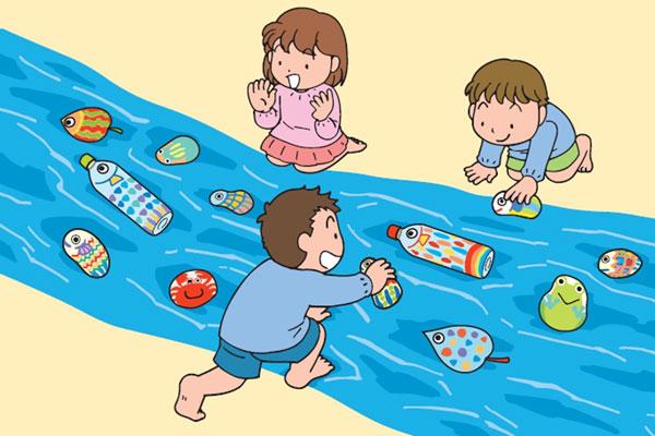 川の生き物を製作しよう(4歳児,5歳児)