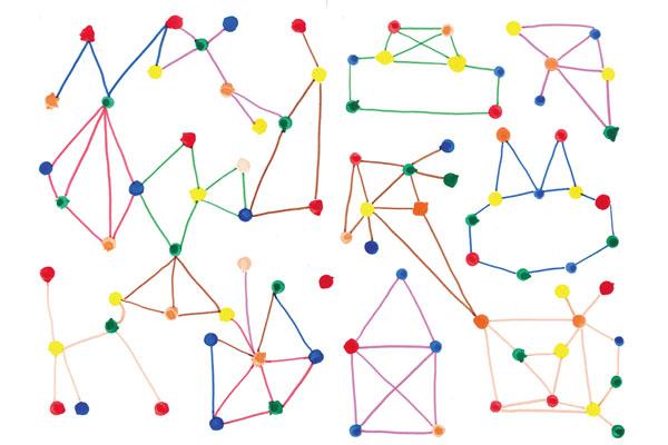 星座の線あそび(3~5歳児)