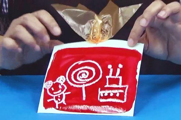 楽しいお絵描きシリーズ④~クレパスと絵の具のお絵描きあそび~