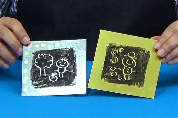 楽しいお絵描きシリーズ⑤~クレパスの特性を使ったスクラッチ~