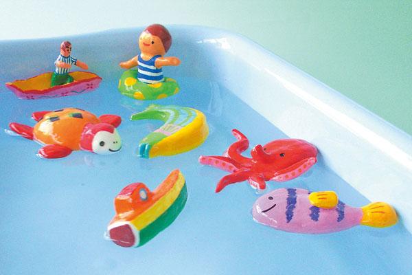 水に浮かぶ魚や船をつくろう(4歳児,5歳児)