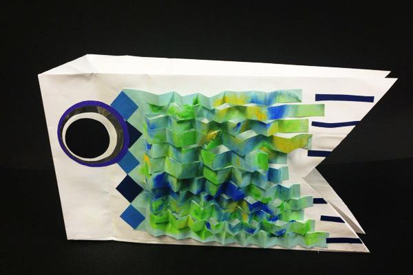 紙袋でつくる鯉のぼり【こいのぼり】(4歳児,5歳児)