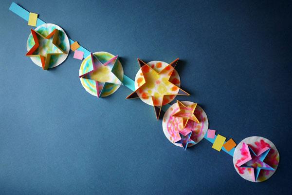 七夕製作「星の七夕飾り」(3歳児,4歳児,5歳児)