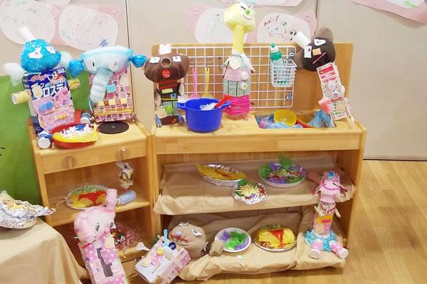 造形展「森のカフェ」(2歳児)