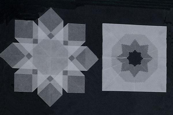 光の折り紙