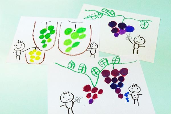 楽しいお絵描きシリーズ⑪~クレパスの混色を使って~