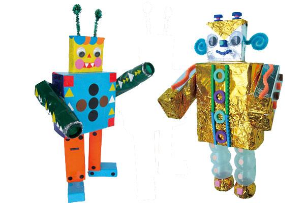 空き箱でロボットをつくろう(4,5歳児)
