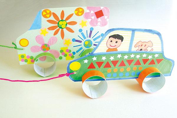 簡単製作「マイカーであそぼう」(3歳児,4歳児)