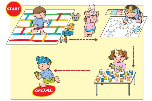 お部屋でレースあそび (4歳児,5歳児)