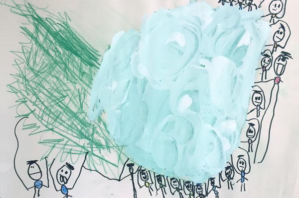 お話の絵「おおきなかぶ」(4歳児)