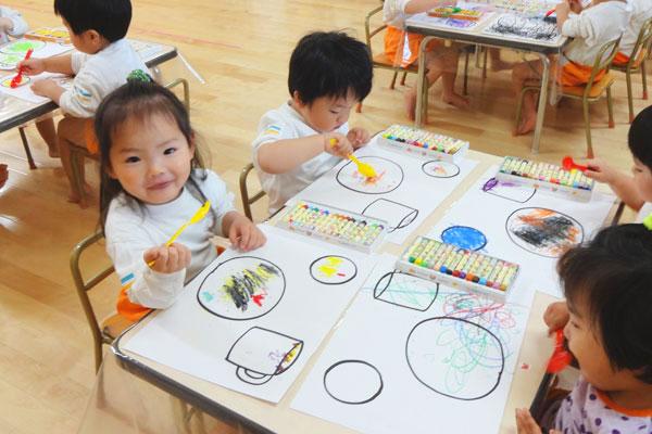 お子様ランチを描こう!(2歳児)