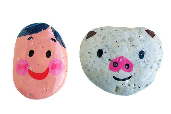 石でいろんな顔をつくろう!(4,5歳児)