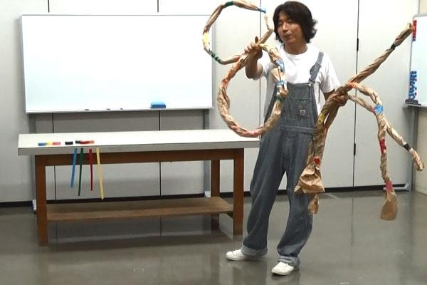 のびのび造形+わいわい運動あそび②長い縄や わっかを作ってあそぼう!