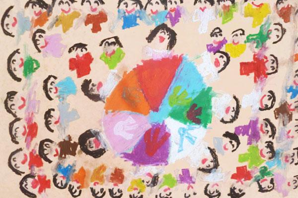 行事画「楽しかった運動会」(5歳児)