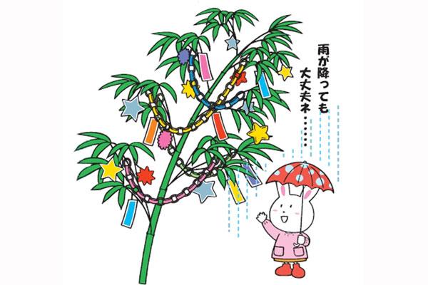 雨にもまけない七夕飾り(3歳児,4歳児)