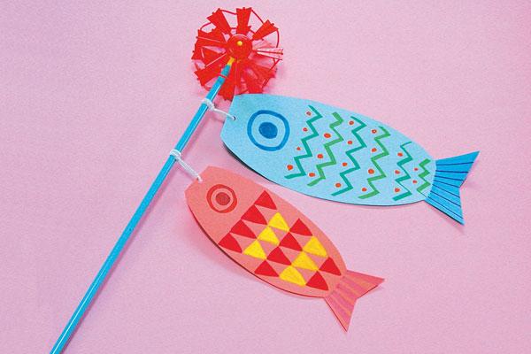 矢車つき鯉のぼり【こいのぼり】 (3歳児,4歳児)