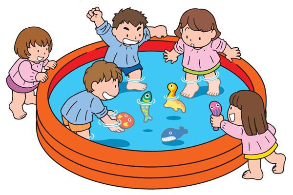 プールにお魚を浮かべてみよう(4歳児,5歳児)
