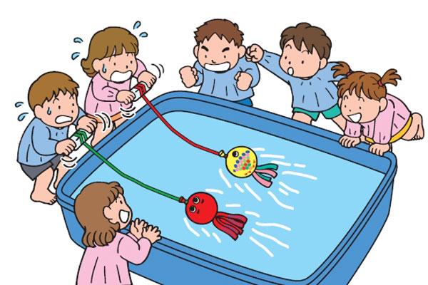 風船のお魚レース遊び(5歳児)