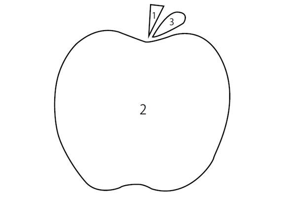英語で塗り絵あそび22りんご Apple教材ダウンロード ほいスタ