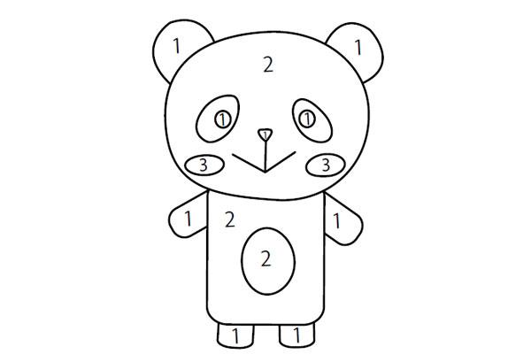 英語で塗り絵あそび40パンダ Panda教材ダウンロード ほいスタ