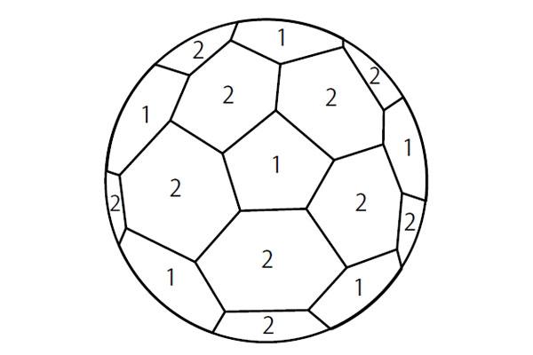 英語で塗り絵あそび45サッカーボール Soccerball教材ダウンロード