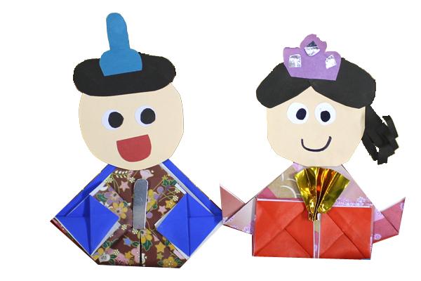 折り紙「おひなさま」(5歳児)