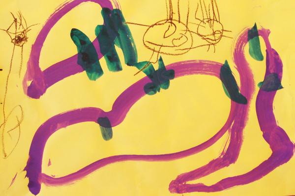 行事画「いもほり」 (3歳児)