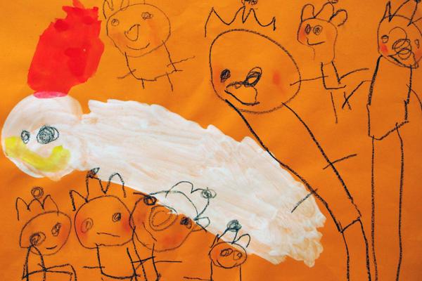 お話の絵「おしゃべりなたまごやき」(3歳児)