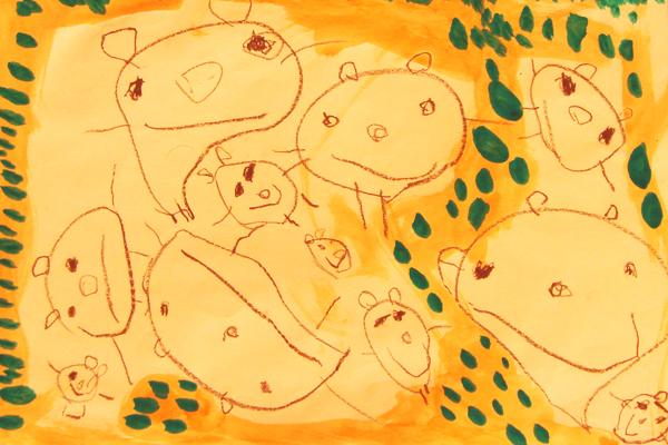 お話の絵「にんじんばたけのパピプペポ」(3歳児)