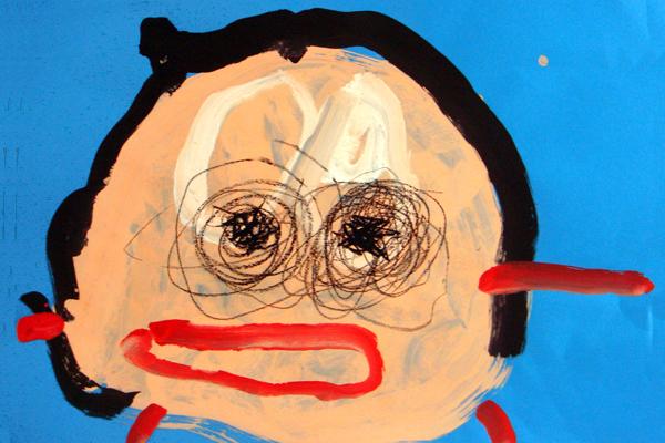 おかあさんの顔(3歳児)