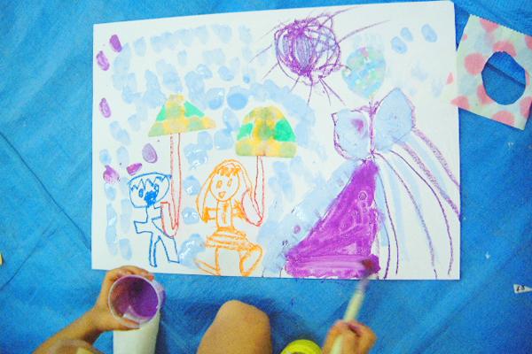 「雨えのぐ」でお絵描きしよう(4歳児,5歳児)