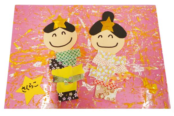 千代紙の和風七夕飾り(2歳児)