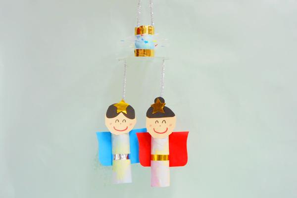 たなばた製作「染め紙と紙管でつくる七夕飾り」(4歳児)