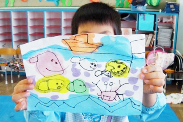 和紙に描いてみよう(3歳児,4歳児,5歳児)