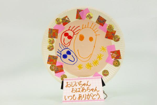 紙皿のお絵かきスタンド(4歳児)