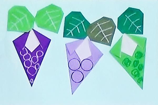 折り紙「ぶどう」 ~折り方と作品づくり~