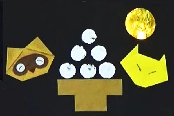 折り紙「きつねとたぬき」 ~お月見の作品をつくろう~