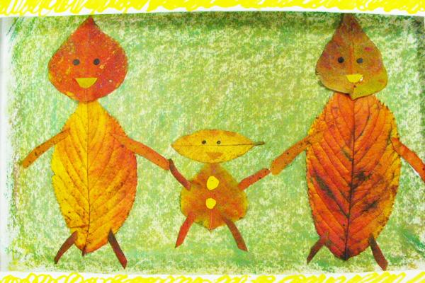 葉っぱのコラージュ(4歳児,5歳児)