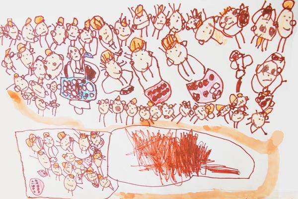 行事画「遠足の思い出」(4歳児)